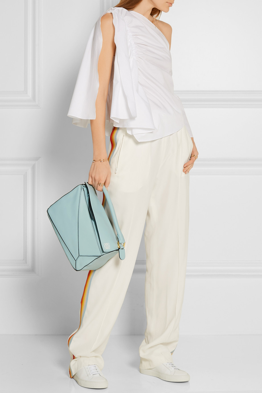 LOEWE Puzzle small leather shoulder bag mint green (5)