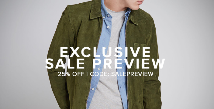 Exclusive Sale Preview  25  off for a limited time only.