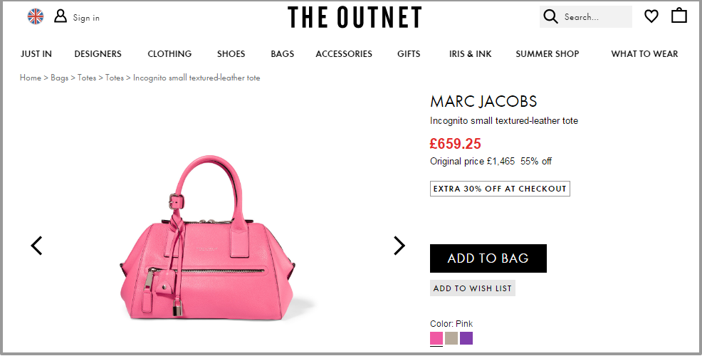 Incognito small textured leather tote   Marc Jacobs   UK   THE OUTNET