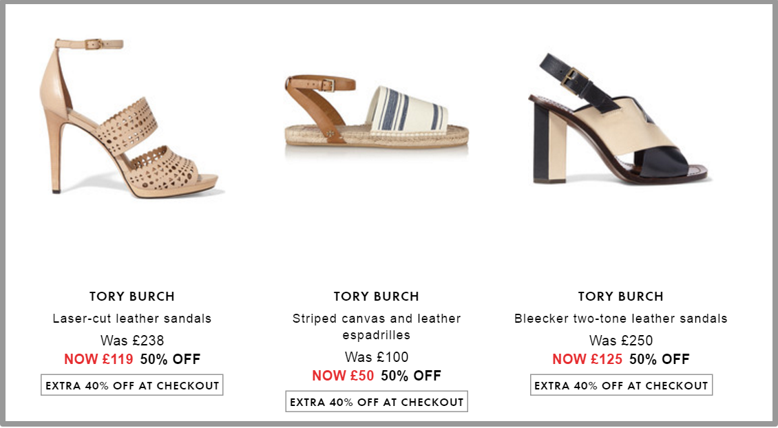 Get an extra 40 percent off Shoes   HK   THE OUTNET