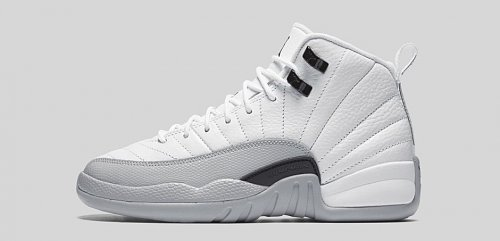 KIDS-AIR-JORDAN-12-RETRO-WHITE-WOLF-GREY-PROFILE