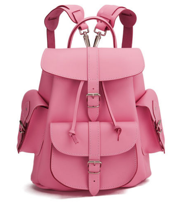 grafea-pink-lemonade-medium-leather-rucksack-pink