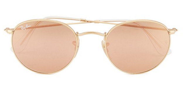ray-ban-round-metal-sunglasses-matte-gold-brown-mirror-pink-50mm-clothing-thehut-com