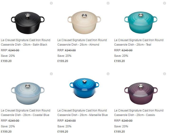 Le Creuset Collection Free UK Delivery The Hut3
