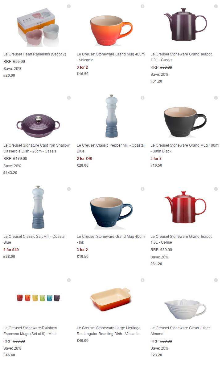 Le Creuset Collection Free UK Delivery The Hut7