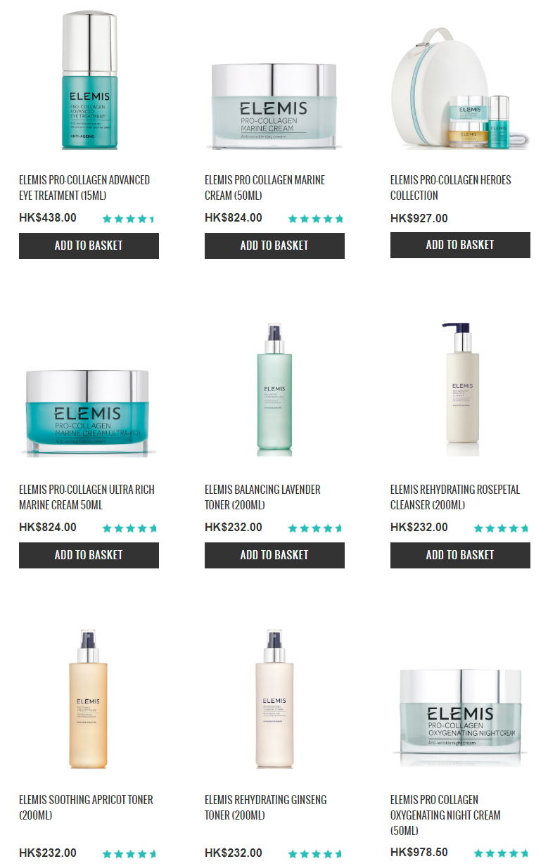 All ELEMIS FREE Delivery