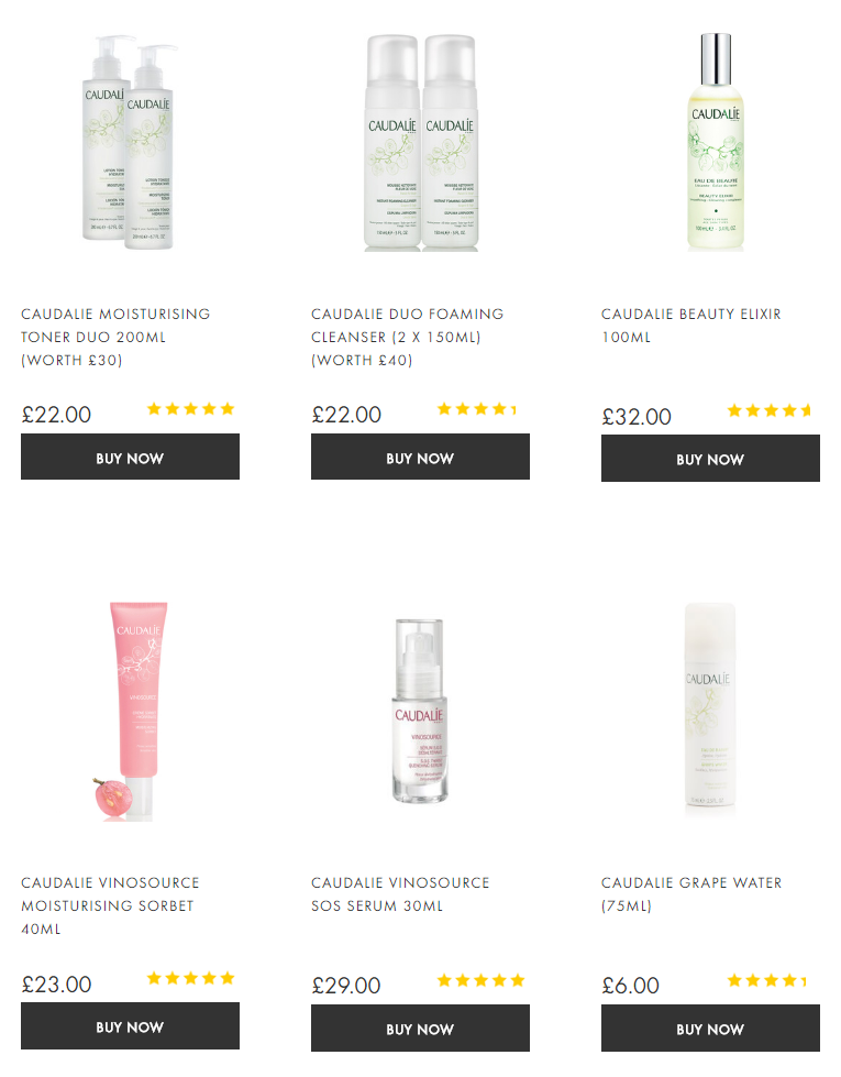 Caudalie Skin Care Beauty Expert Free Delivery Worldwide
