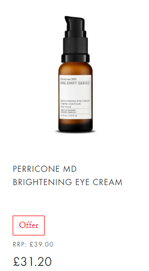 Perricone MD Brightening Eye Cream