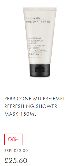 Perricone MD PRE EMPT Refreshing Shower Mask