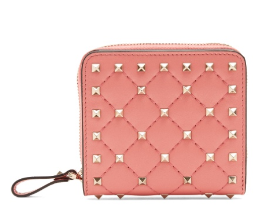 Rockstud Spike quilted leather wallet Valentino