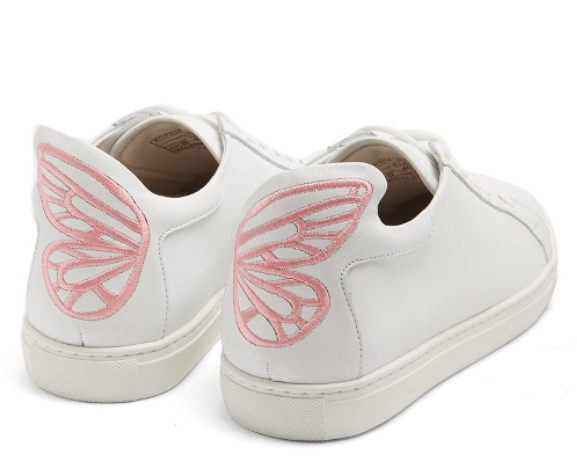 Sophia Webster pink butterfly Bibi low top leather trainers