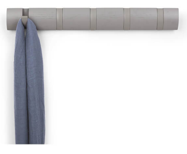 Umbra Flip 5 Coat Hooks Grey Homeware TheHut.com