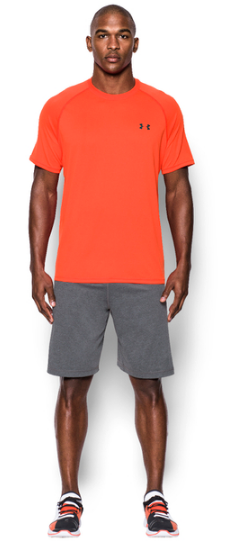 Under Armour Men s Tech Short Sleeve T Shirt Bolt Orange Sports